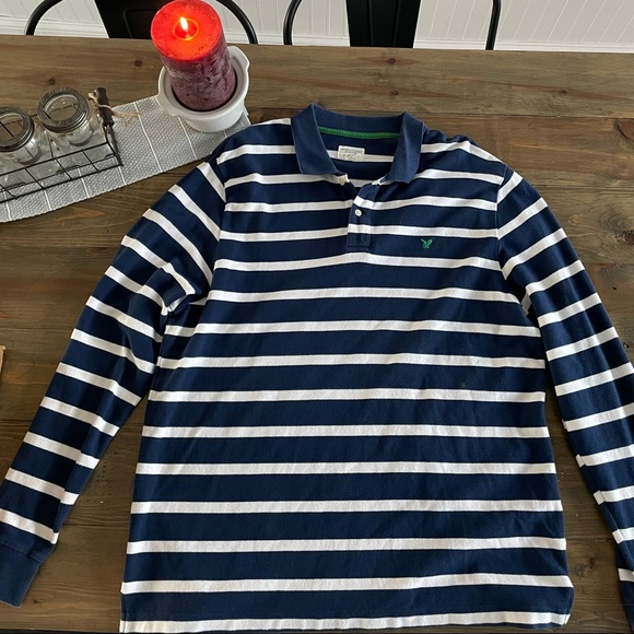 Like New American Eagle Outfitters Striped Long Sleeve.